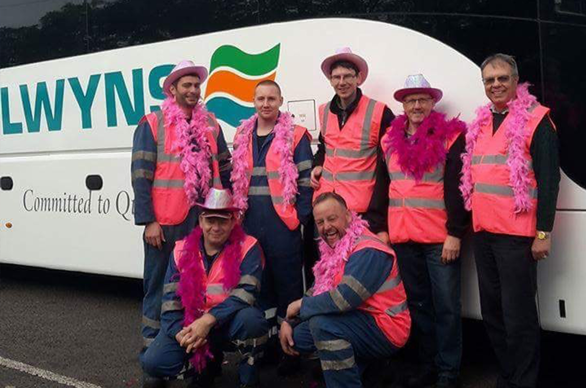 selwyns staff wear it pink for charity