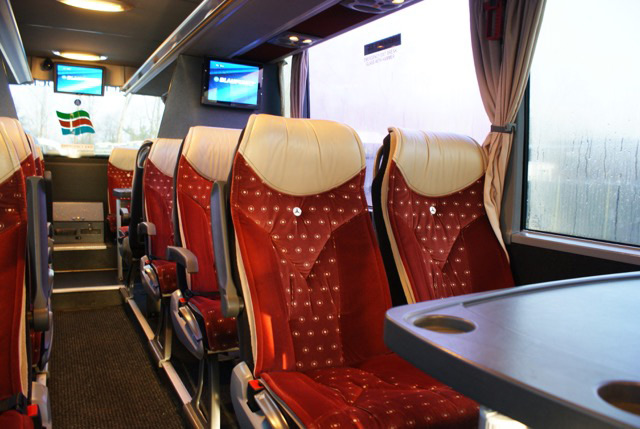 Corporate Coach Hire - coach Interior