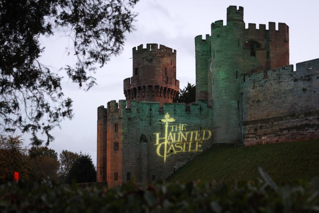 Warwick Castle at Halloween
