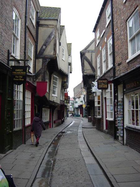 The Shambles, a famous cobbled street in York, is like something out of Harry Potter! - Photo Credit: Wikimedia Commons