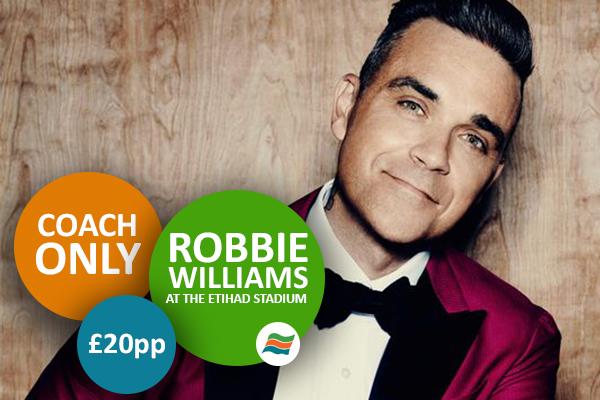 Coaches to Etihad Stadium Robbie Williams tour