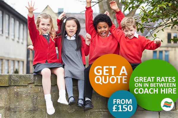 get 'inbetween' school coach hire from just £150!